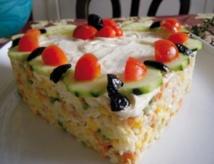 Recette : Salade en forme de tarte
