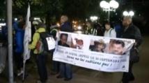 Marche de proches d'otages français au Sahel
