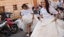 Insolite : Course de futures mariées