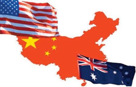 Course à l'armement au Pacifique, Guerre par procuration Australie-Chin