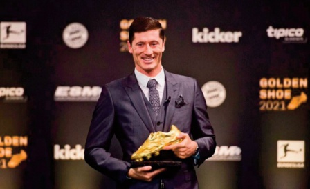 Le Soulier d'or 2020-21 attribué à Lewandowski