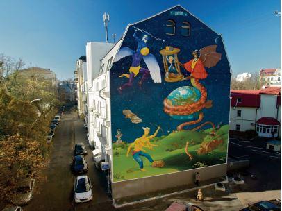 """Les fresques monumentales de """"Jidar """" se multiplient sur les murs de Rabat"""