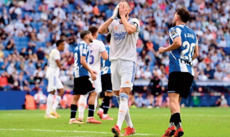 Le Real s'incline chez l'Espanyol