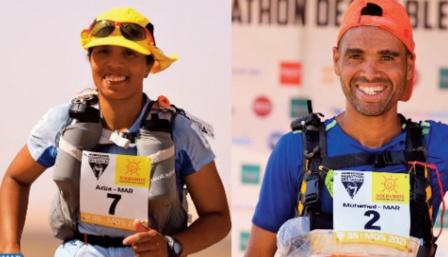 Marathon des sables: Aziza Raji et Mohammed El Morabity remportent la 3ème étape