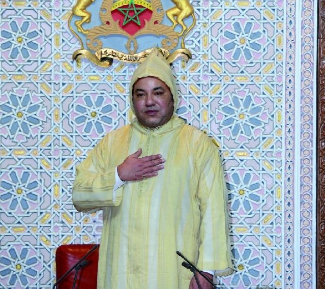 S.M le Roi Mohammed VI à l'ouverture de la session parlementaire