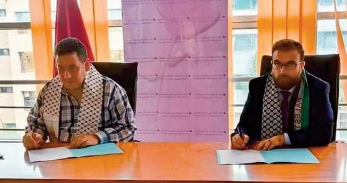 Mémorandum de partenariat et d' entente entre Chabiba ittihadia et Lutte palestinienne-Union de la jeunesse