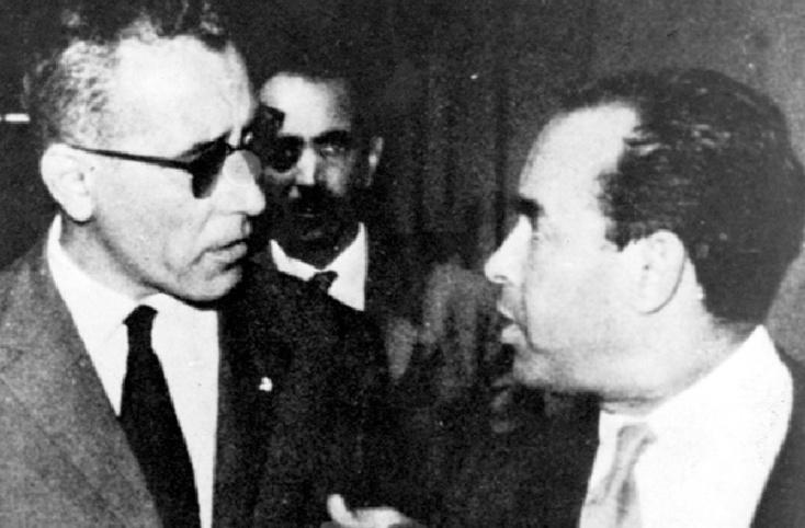 """""""La gauche marocaine riposte"""" :  Interview de Mehdi Ben Barka et Abderrahim Bouabid"""