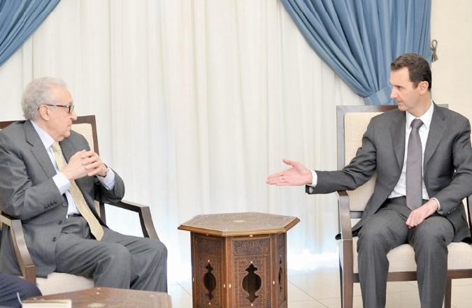 Assad réitère son refus des ingérences à Ibrahimi