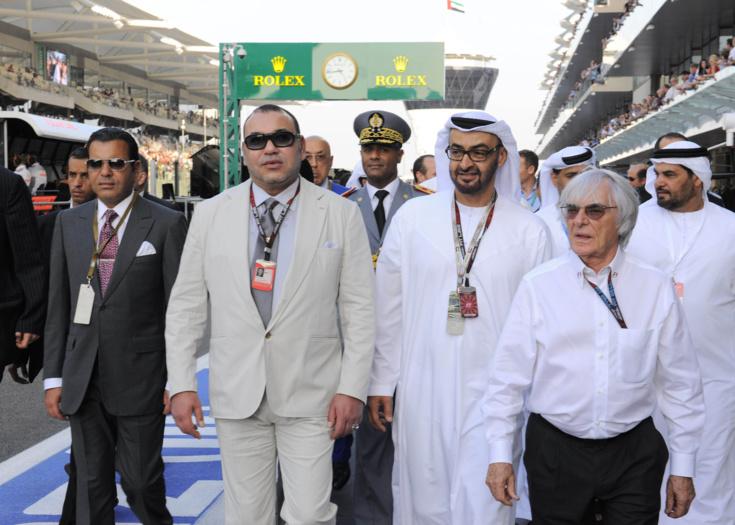 SM le Roi assiste au Grand Prix d'Abou Dhabi de Formule1