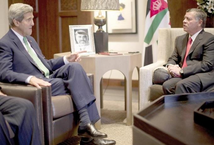 John Kerry poursuit en Jordanie sa tournée au Proche-Orient