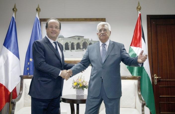 Hollande en visite dans les territoires palestiniens