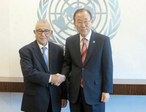 Rencontre entre Abdelouahed Radi et Ban Ki-moon