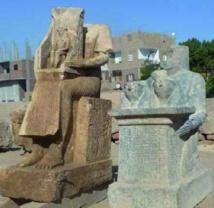 Découverte de deux statues exceptionnelles sur le site d'Ermant en Egypte