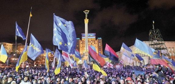 La rue en ébullition en Ukraine