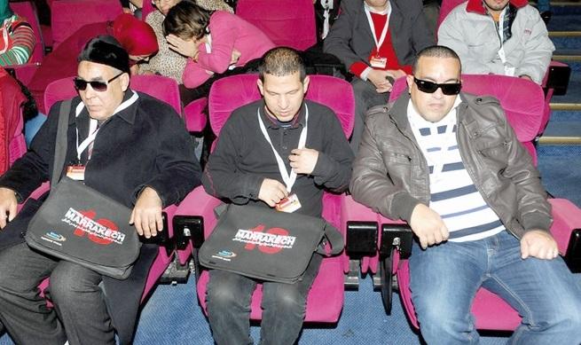 Des malvoyants goûtent au plaisir du cinéma en audiodescription
