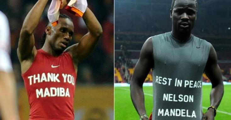 Pour avoir rendu hommage à Mandela Drogba et Eboué menacés de sanctions