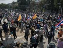 Un Des opposants thaïlandais au siège du gouvernement