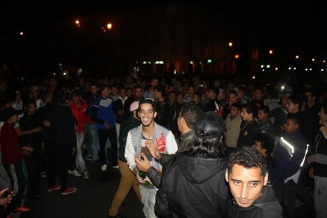 Scènes de liesse à Rabat