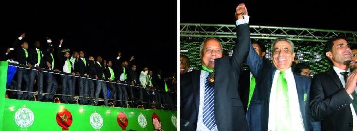 Accueil triomphal pour les Verts  au Complexe Mohammed V