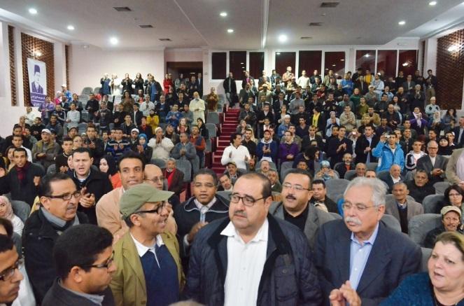 Driss Lachguar au 1er Congrès de la Chabiba ittihadia à Agadir
