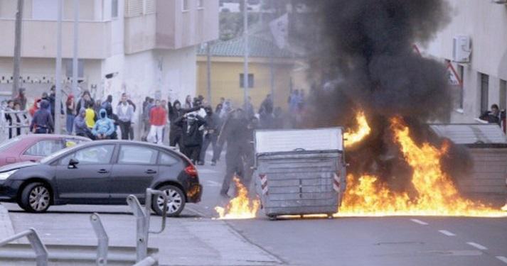 Violentes émeutes à Mellilia