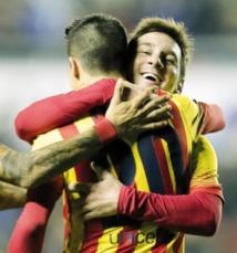 """Les """"copier-coller"""" de Messi et  Tello ouvrent la voie des demis  de la Copa del Rey pour  le Barça"""