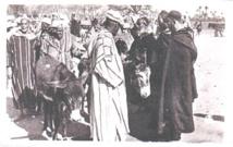 Juifs marocains et Amazighs du Moyen Atlas au souk de bétail à Ifrane