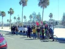 Les agents de sécurité du secteur de l'enseignement battent le pavé à Essaouira