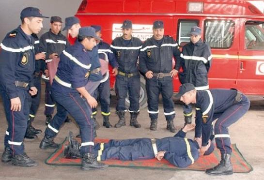 Exercices de  simulation de  la Protection civile