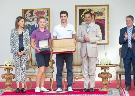 Leurs Altesses Royales, le Prince Moulay Rachid et la Princesse Lalla Meryem ont présidé, dimanche au golf du Palais Royal d'Agadir,  a cérémonie de remise des prix aux vainqueurs de la 41ème édition du Trophée Hassan II et de la 20ème édition de la Coupe Lalla Meryem de golf.