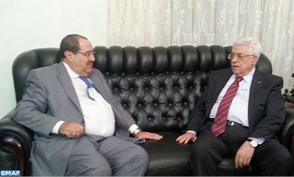 Driss Lachguar reçu à Amman par Mahmoud Abbas