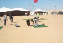 Un terrain de golf en plein désert
