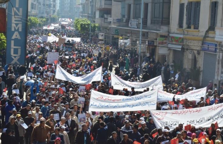 Grand succès populaire de la Marche  initiée par la FDT, la CDT et l'UMT