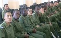 Des élèves officiers de l'Ecole Royale de l'Air de Marrakech en visite d'étude à Dakhla