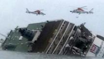 Course des plongeurs pour récupérer les corps du ferry sud-coréen naufragé