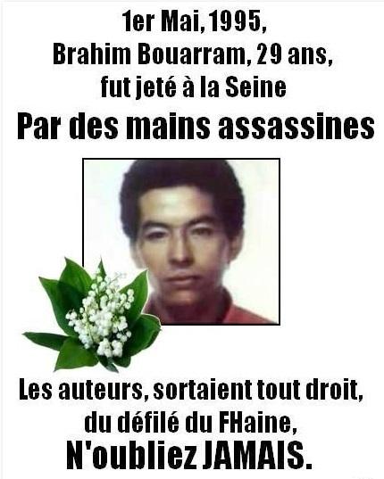 Il y a 19 ans, Brahim Bouaram fut assassiné par des racistes proches du FN