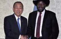 Ban Ki-moon au Soudan du Sud dans le cadre  des efforts de paix