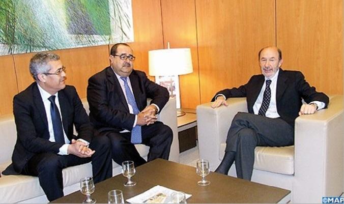 Driss Lachguar s'entretient avec le secrétaire général du PSOE à Madrid