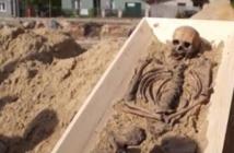 Découverte d'un squelette de vampire