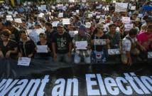 Des manifestations à Bangkok contre le coup d'Etat