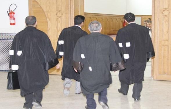 Magistrats, avocats, notaires, adouls et huissiers réclament  l'indépendance de la justice