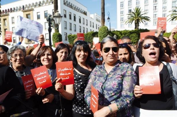 A Rabat, une manifestation symbolique  dénonce Benkirane et ses propos contre les femmes