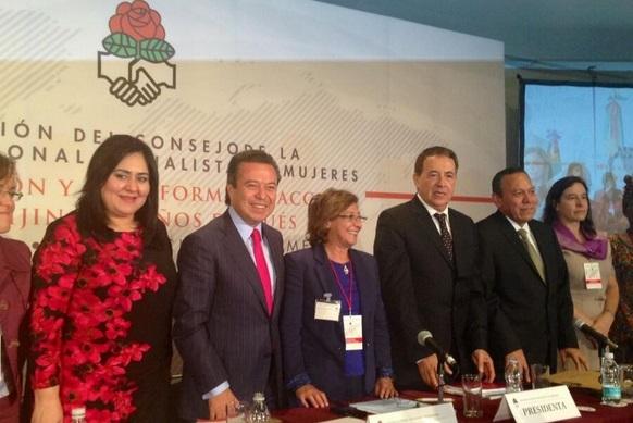 Entretiens à Mexico entre une délégation  de l'USFP et des dirigeants politiques mexicains