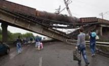 Des blindés de l'armée ukrainienne à une vingtaine de km au sud de Donetsk