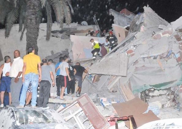 Effondrement de trois immeubles à Bourgogne à Casablanca