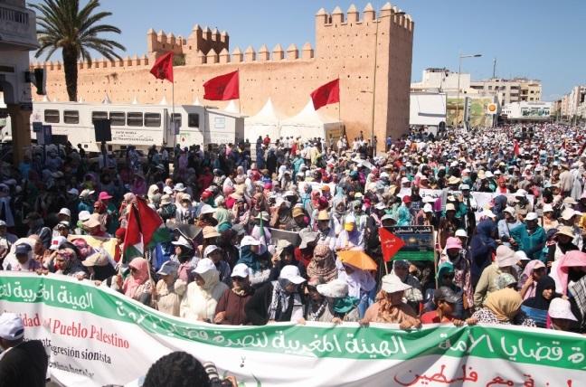 Des marches de soutien au peuple palestinien organisées à travers tout le pays