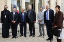 François Hollande  reçoit les représentants des religions de France