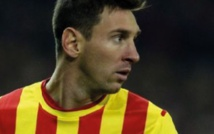"""Maillot de circonstance pour la """"journée  nationale"""" de Catalogne pour le FC Barcelone"""