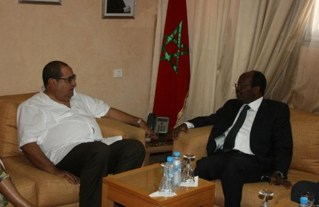 Driss Lachguar s'entretient avec Emmanuel Kolo