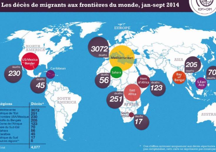 Plus de 3000 migrants périssent en Méditerranée